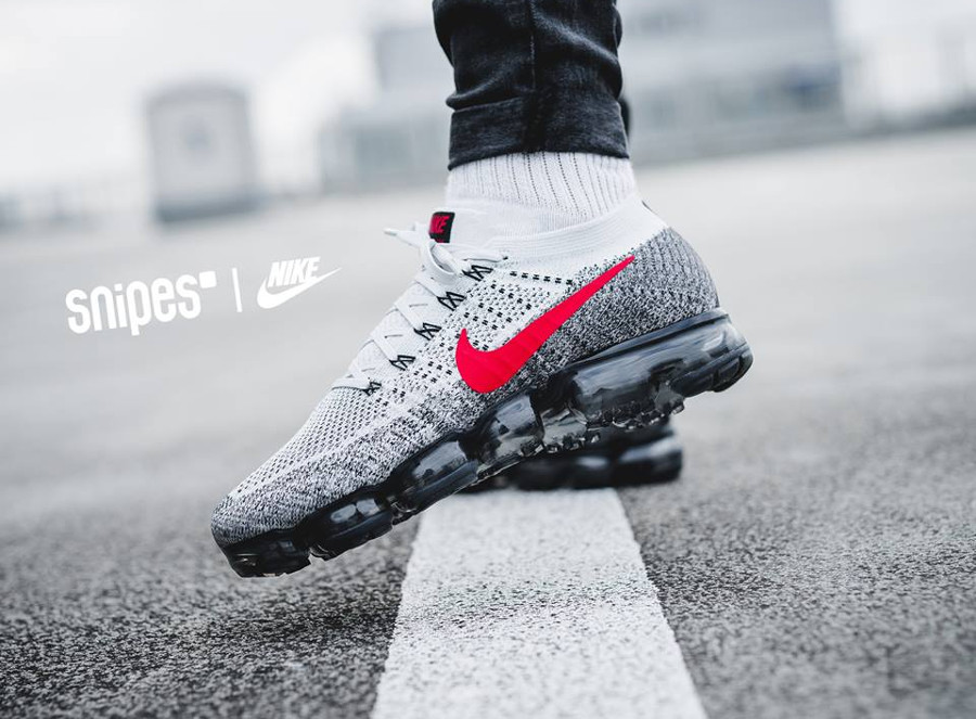 Chaussure Nike Air Vapormax Flyknit Air Max 1 OG Red Grey Heritage