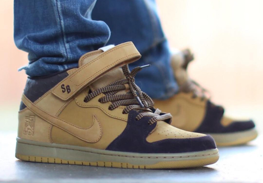 Chaussure Nike Dunk Mid Pro SB Wheat Lewis Marnell 2017