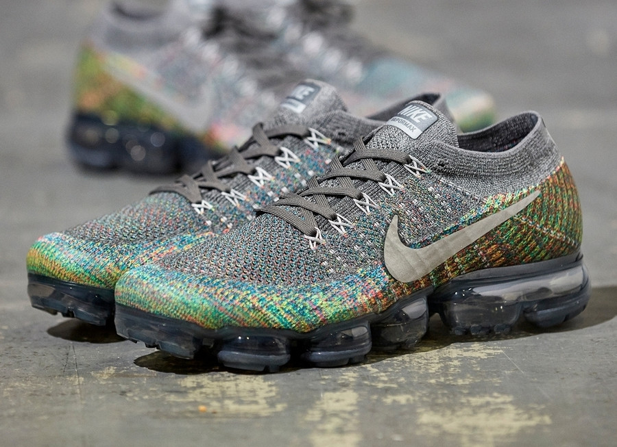 Nike Air Vapormax Flyknit 'Grey Multicolor'