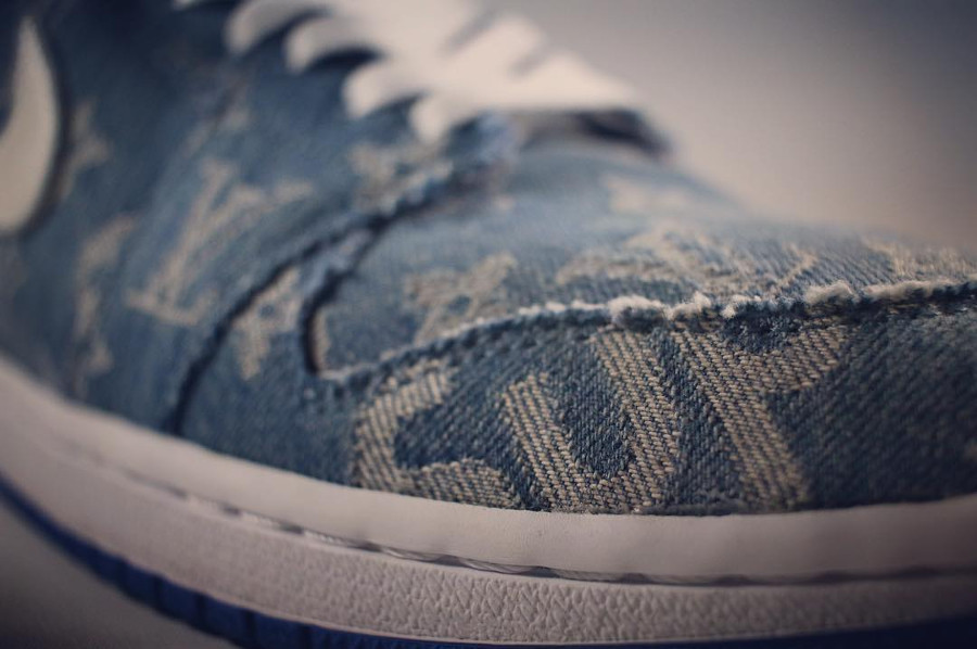 Louis Vuiton x Supreme x Air Jordan 1 Retro High Denim Sup - @redribbonrecon