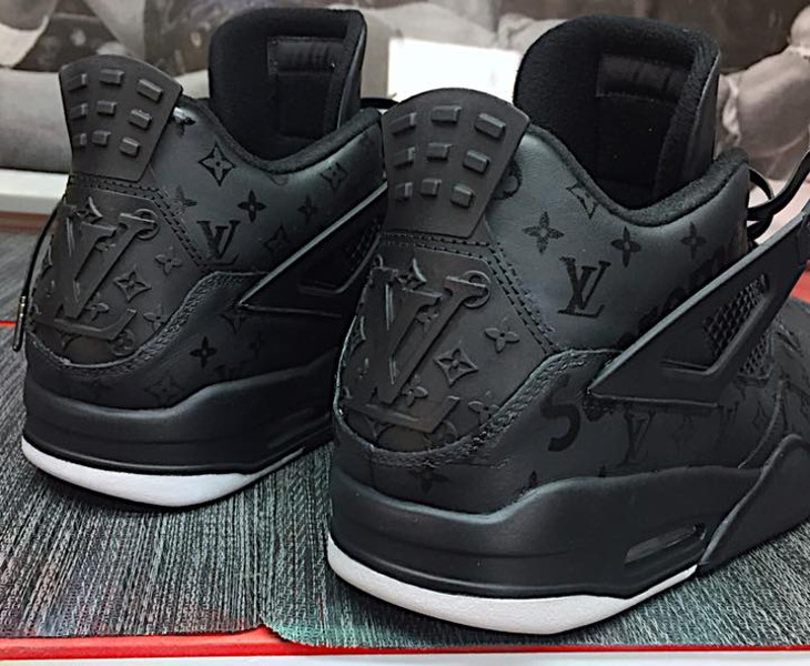 Louis Vuitton x Supreme x Air Jordan 4 noire (1)