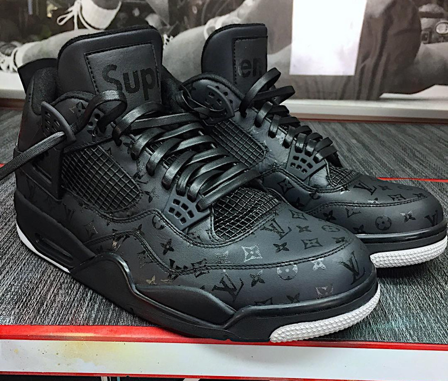 Louis Vuitton x Supreme x Air Jordan 4 noire