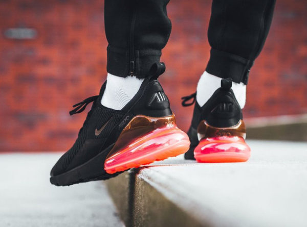 Nike Air Max 270 Black Hot Punch & Total Orange