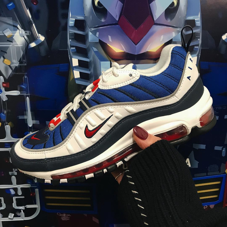 Nike Air Max 98 OG White Blue Red x Mobile Suit Gundam RX 78