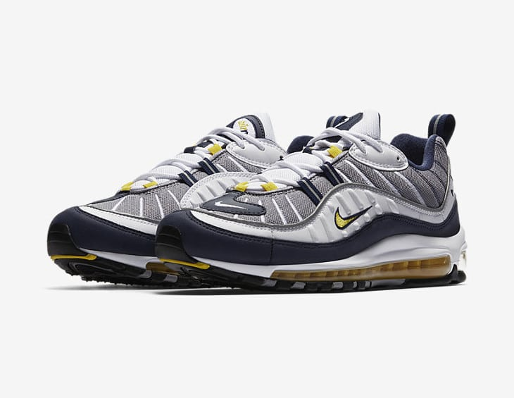Nike Air Max 98 White Tour Yellow