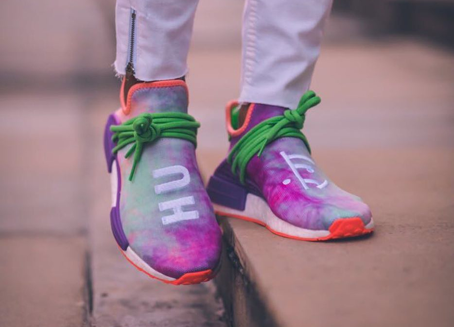 Pharrell Williams x Adidas NMD Hu Trail Holi Powder Dye Multicolor - @karyevans