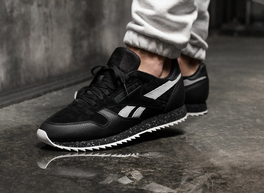 Reebok Classic Leather Ripple SM Black Cool Shadow