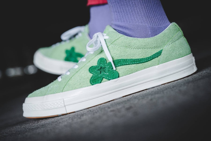 Tyler The Creator x Converse One Star verte Jade Lime (1)