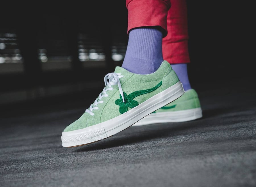 Tyler The Creator x Converse One Star verte Jade Lime (2)