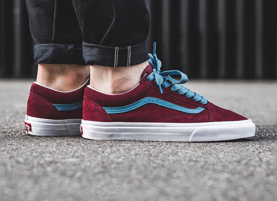 vans homme old skool bordeaux