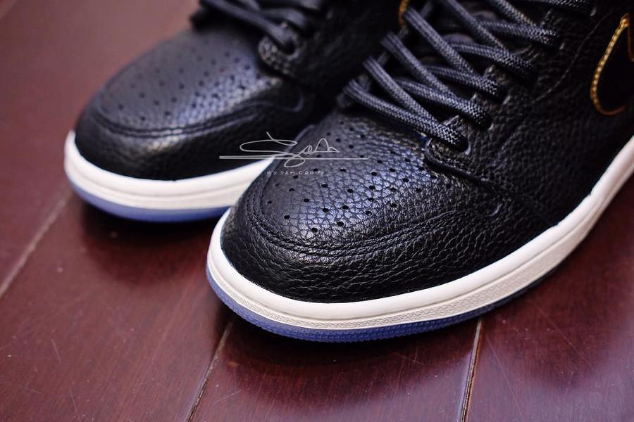 acheter Air Jordan 1 Los Angeles (cuir vieilli noir)