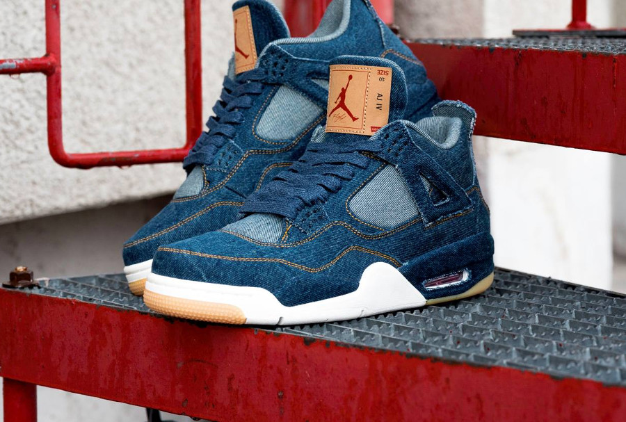 L'acheter Blue DenimComment 4 Retro Indigo Levis Jordan Air eWbYEID9H2
