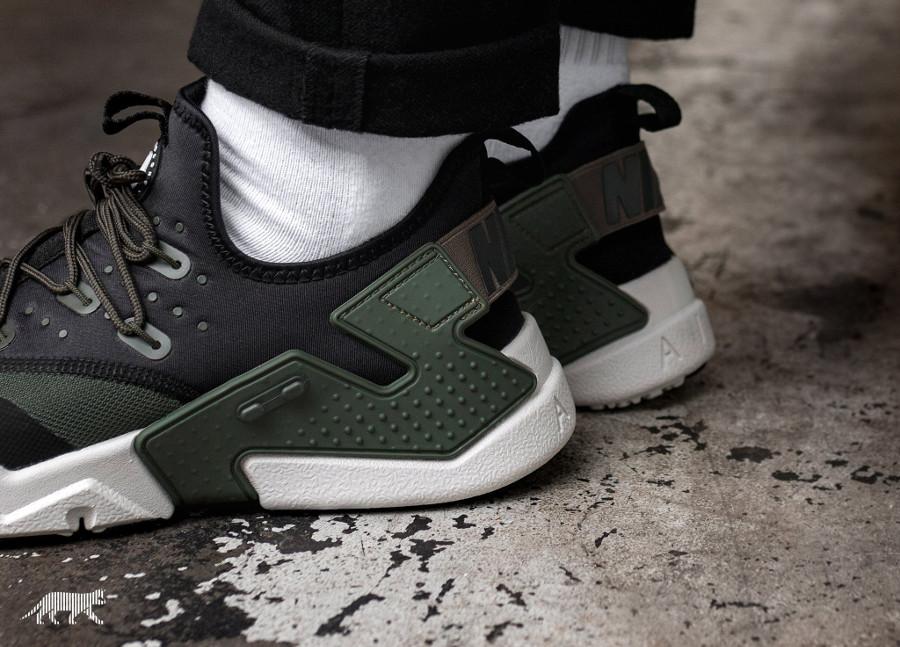 chaussure Nike Air Huarache Drift 2018 noire et verte (3)