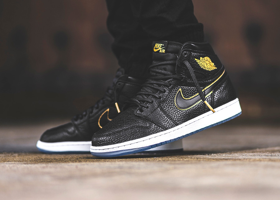 chaussure Nike Air Jordan 1 Retro High LA NBA All Star 2018 on feet (2)