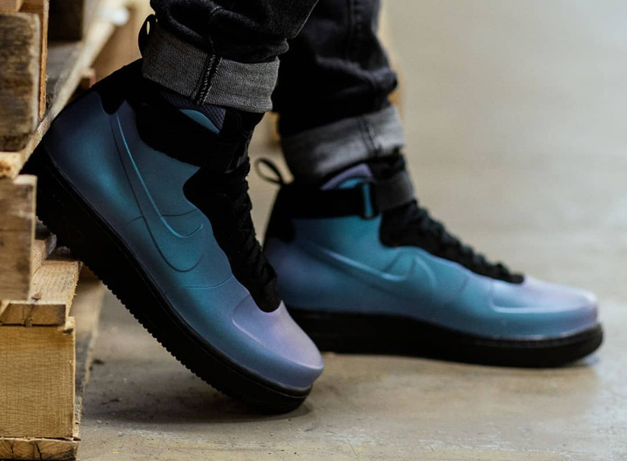 buy popular aafeb a0c9c Nike Air Force 1 Foamposite montante 'Light Carbon ...