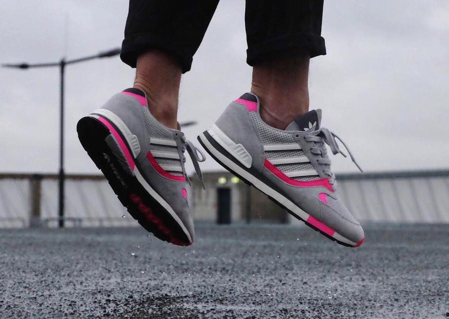 ou acheter la chaussure Adidas Quesence OG Grey Pink Retro 2017 (1)