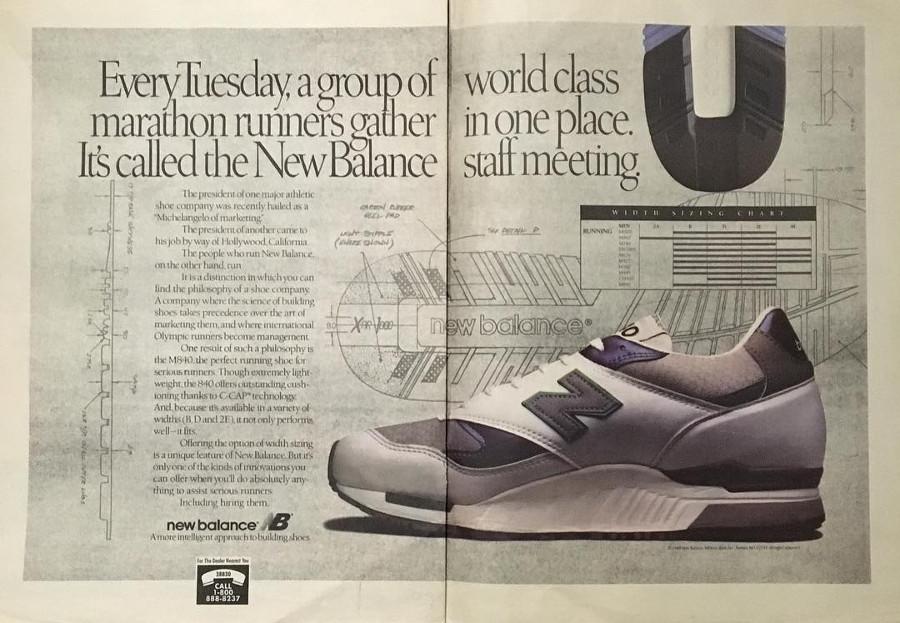 publicité vintage new balance 840
