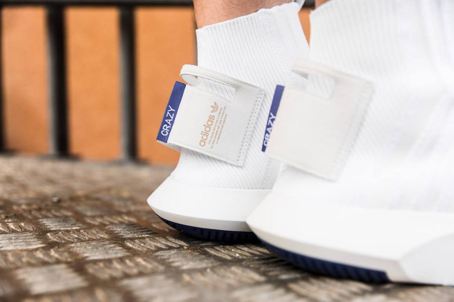 Adidas Crazy 1 Sock ADV Primeknit 'White Real Purple' (1)