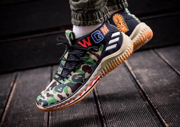 Adidas Dame 4 Bape Camo Shark 'VGM'