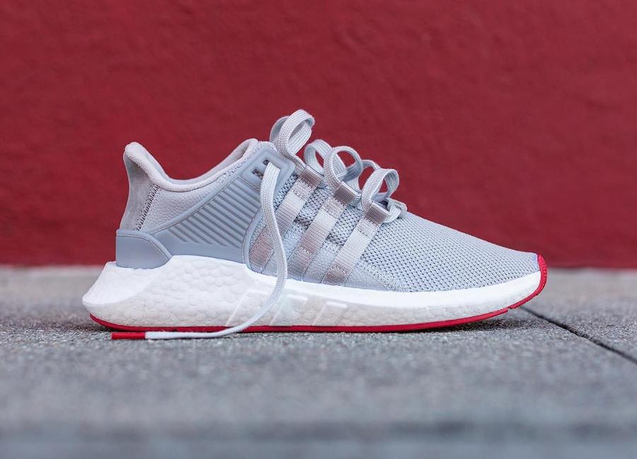 Adidas EQT Support 93 17 Boost Matte Silver (grise avec semelle rouge) (1)