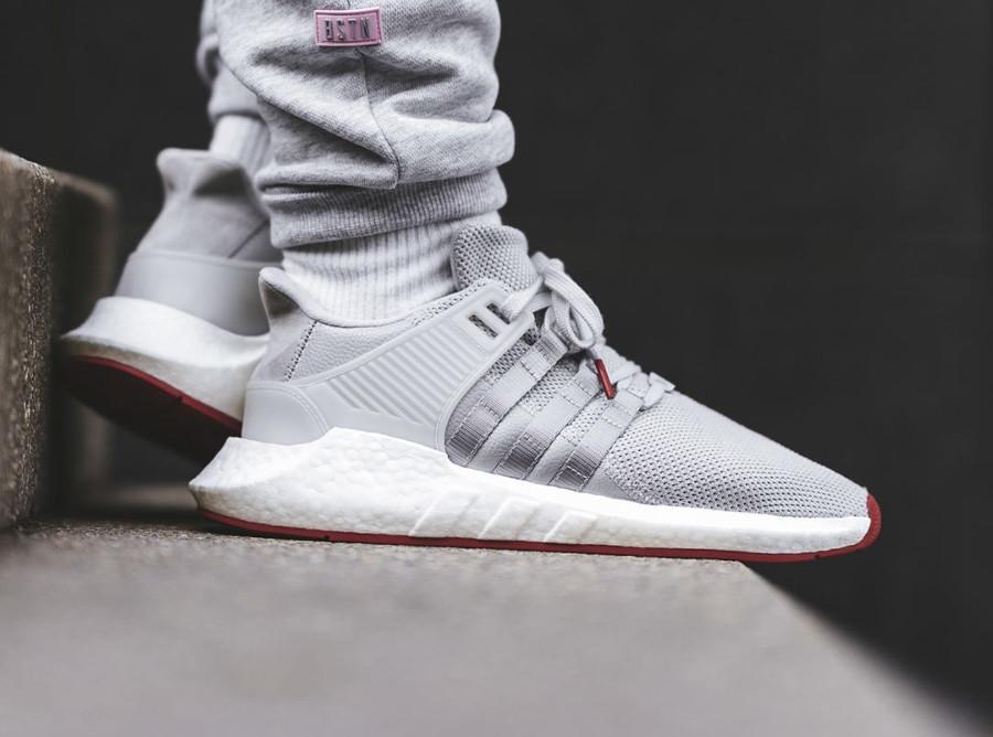 Adidas EQT Support 93 17 Boost Matte Silver (grise avec semelle rouge) (2)