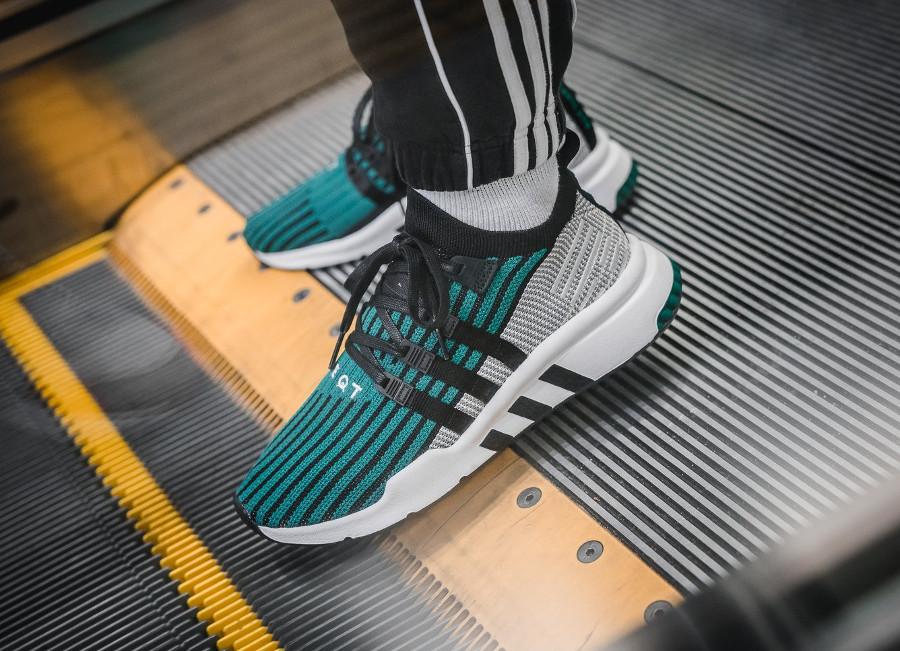 Adidas EQT Support Mid ADV PK Sub Green - chaussure Primeknit homme (1)