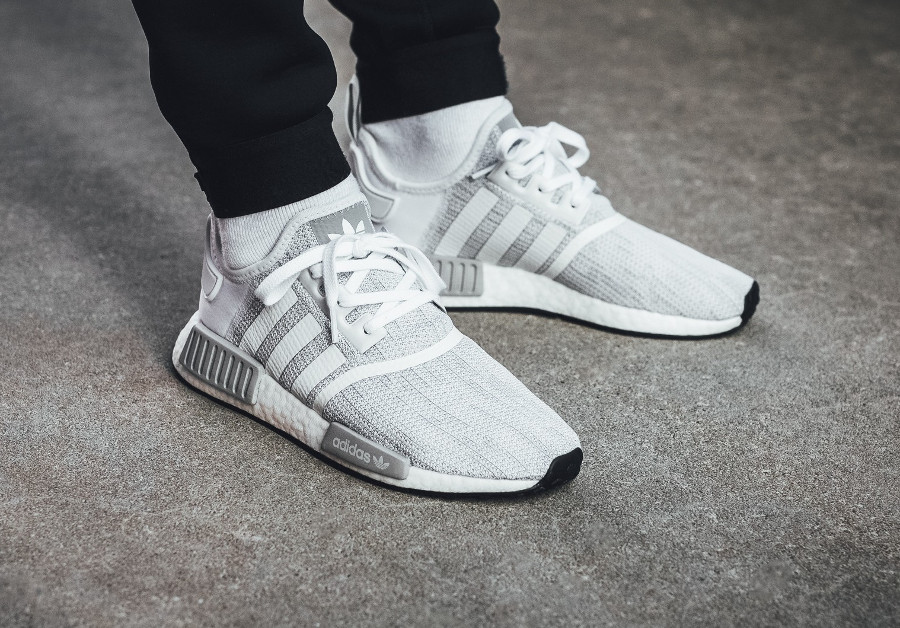 Adidas NMD_R1 Boost Blizzard Grise Grey Two - chaussure homme