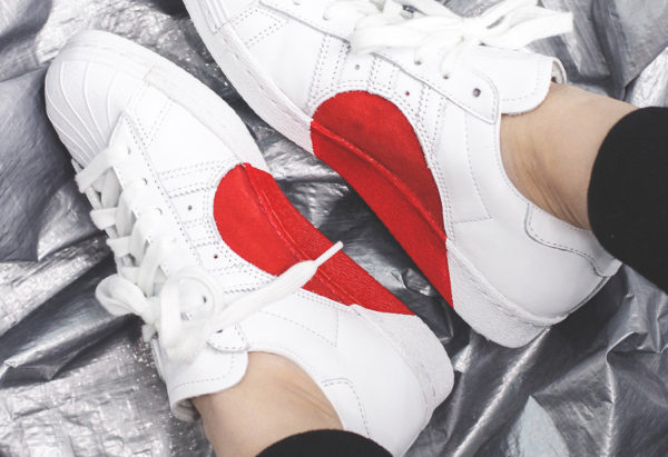 Adidas Superstar 80's 'Half Heart' Valentine's Day 2018