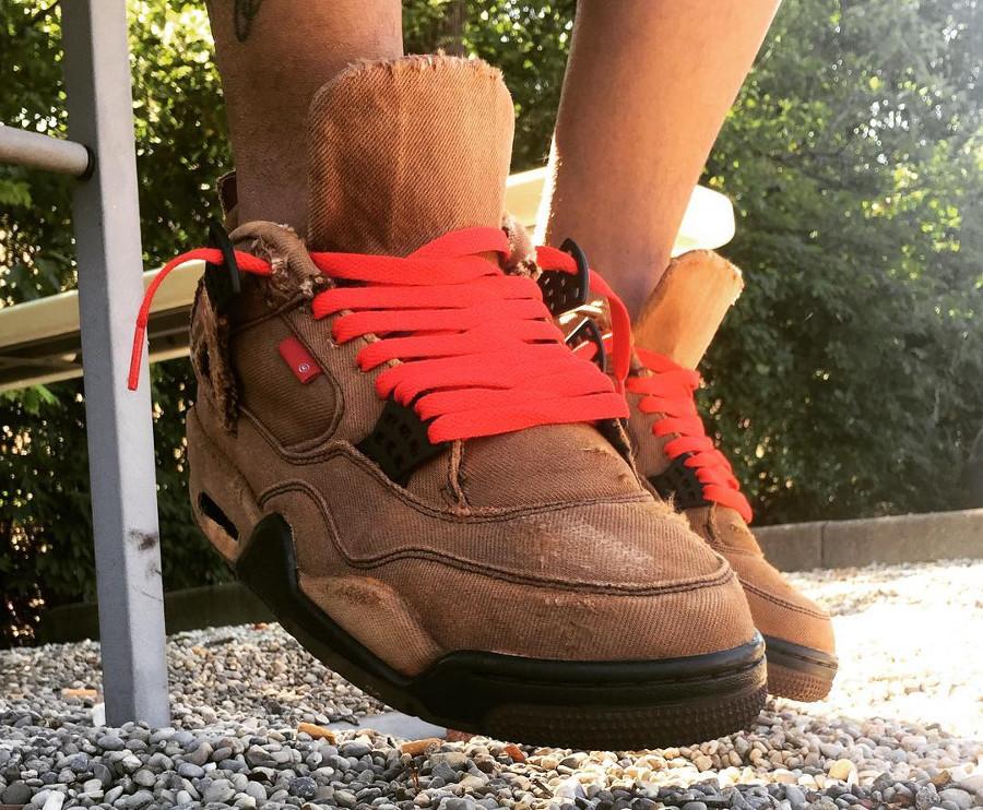 11 Air Jordan au denim blanchi, déchiré ou peint…