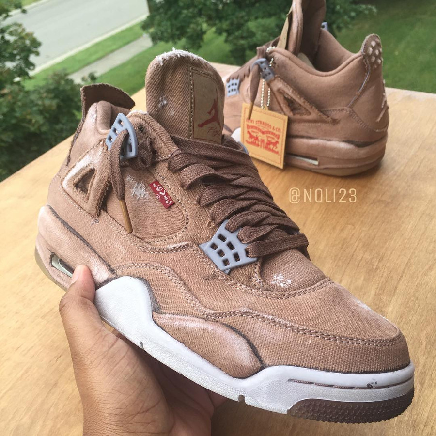 Air Jordan 4 Retro Levis Dyed Brown Denim