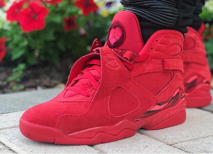 premium selection 7b05b 9be9d Avis] Air Jordan 8 Retro Suede Rouge 'Saint Valentin 2018 ...