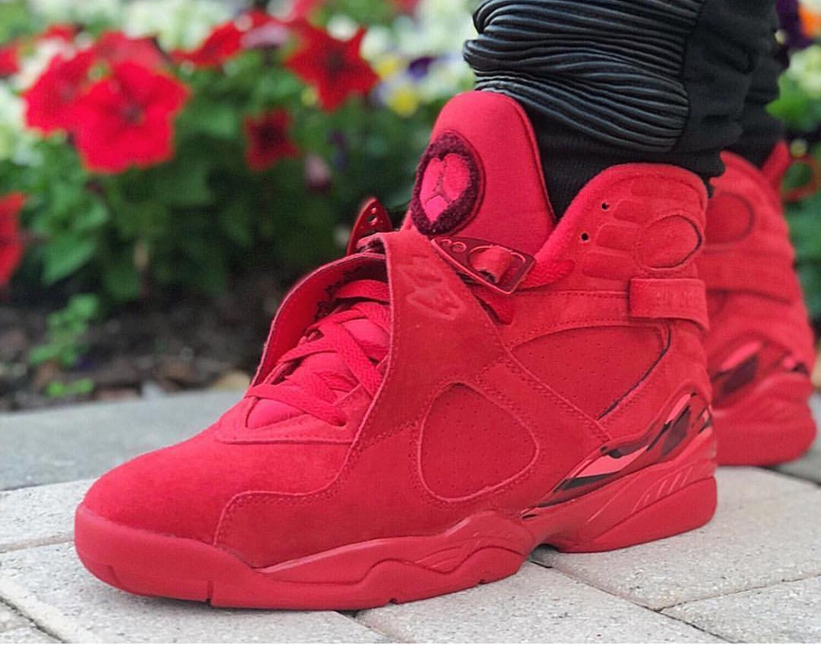 Avis] Air Jordan 8 Retro Suede Rouge 'Saint Valentin 2018 ...