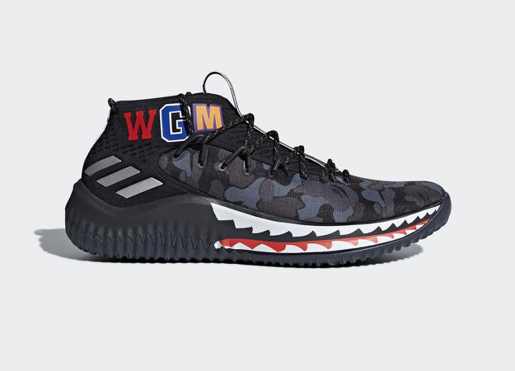 Bape x Adidas Dame 4 (1)
