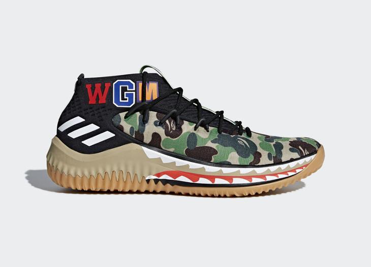 Bape x Adidas Dame 4