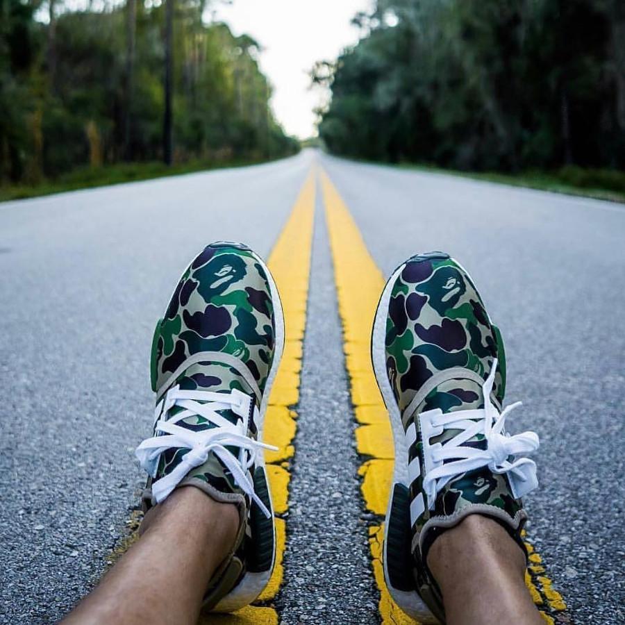 Bape x Adidas NMD R1 Camo - @shoozilla