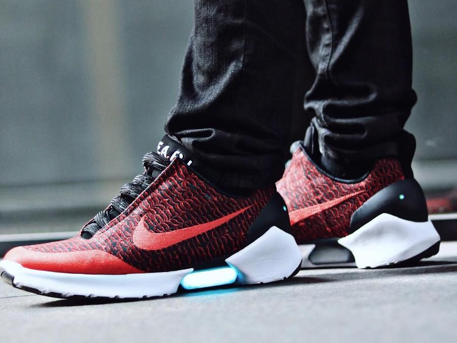 Chaussure Nike Hyperadapt 1.0 Moire Habanero Red