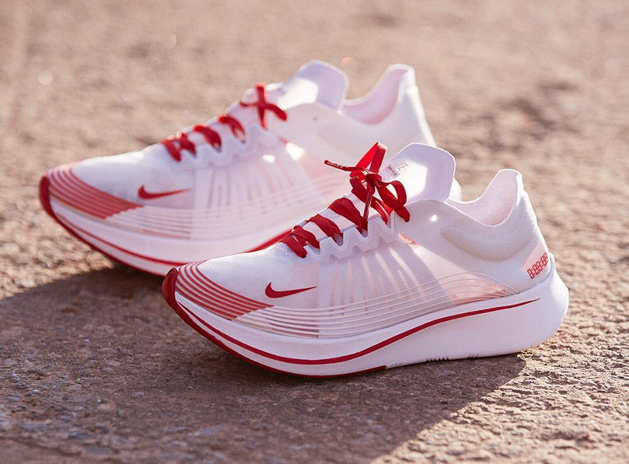 Chaussure Nike Zoom Fly SP Transparente Tokyo White University Red