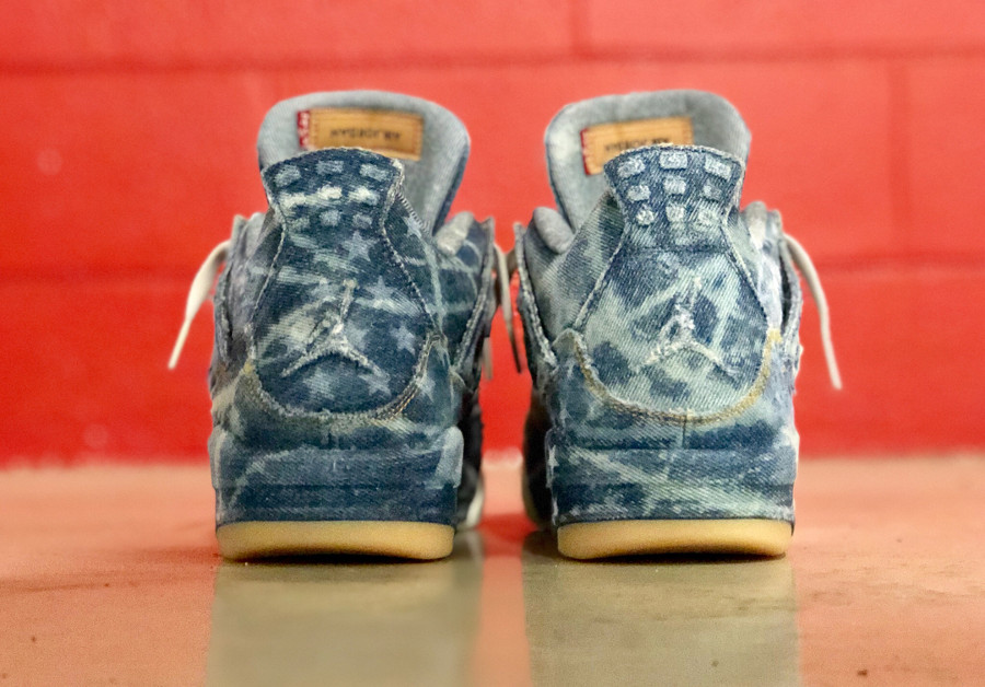 Levis x Air Jodan 4 Retro Denim Otis American Flag (1)
