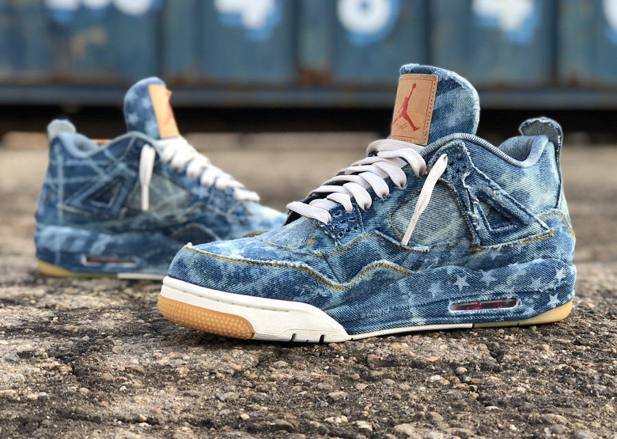 Levis x Air Jodan 4 Retro Denim Otis American Flag (2)