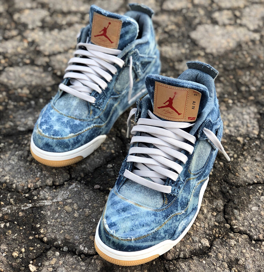 Levis x Air Jodan 4 Retro Denim Otis American Flag (3)