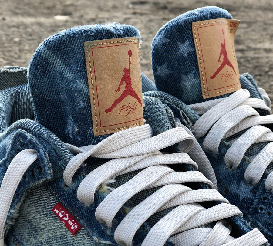 Levis x Air Jodan 4 Retro Denim Otis American Flag (4)