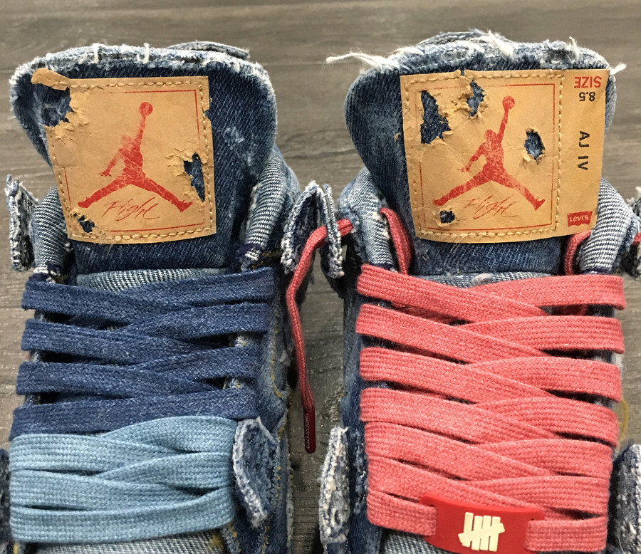 Levis x Air Jordan 4 Retro Distressed Denim (jeans déchiré) (5)