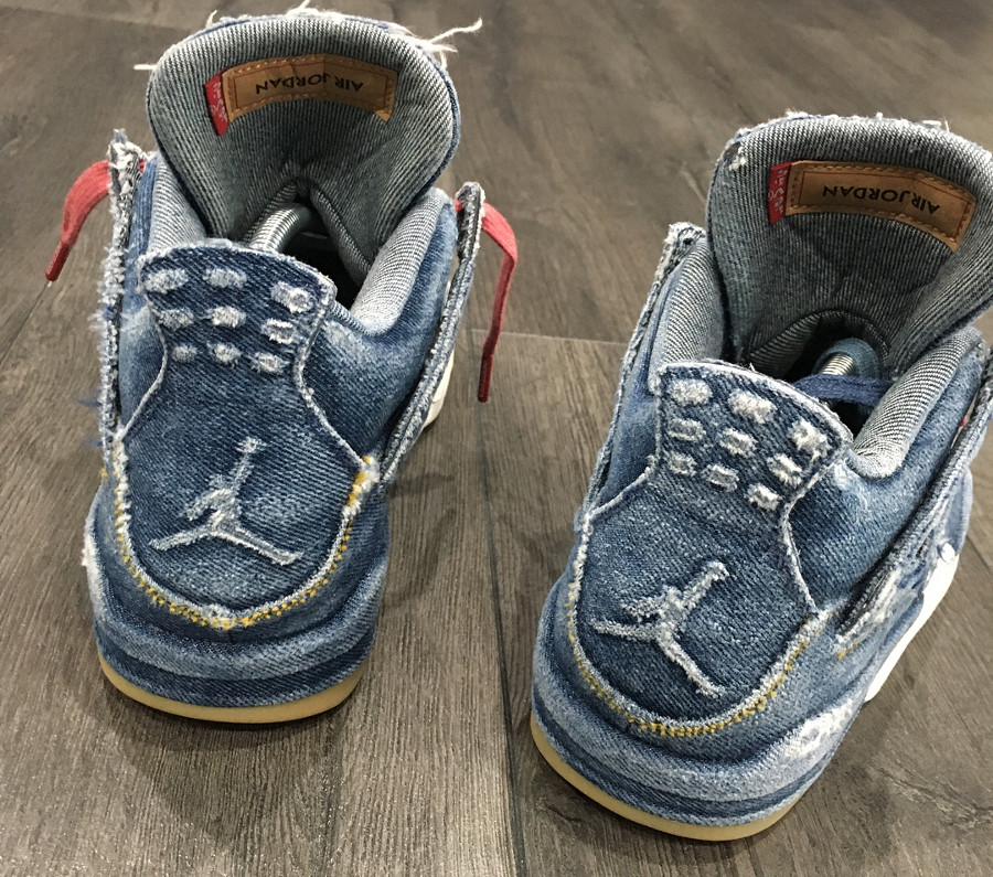 Levis x Air Jordan 4 Retro Distressed Denim (jeans déchiré) (7)