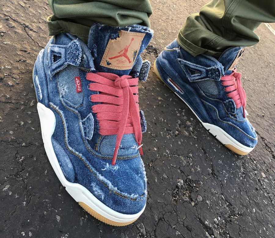 Levis x Air Jordan 4 Retro Distressed Denim (jeans déchiré) (9)