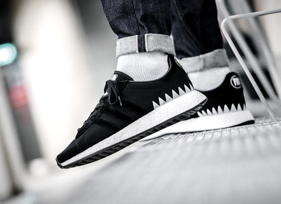 Neighborhood x Adidas Chop Shop noire Shinsen Gumi chaussure Primeknit homme