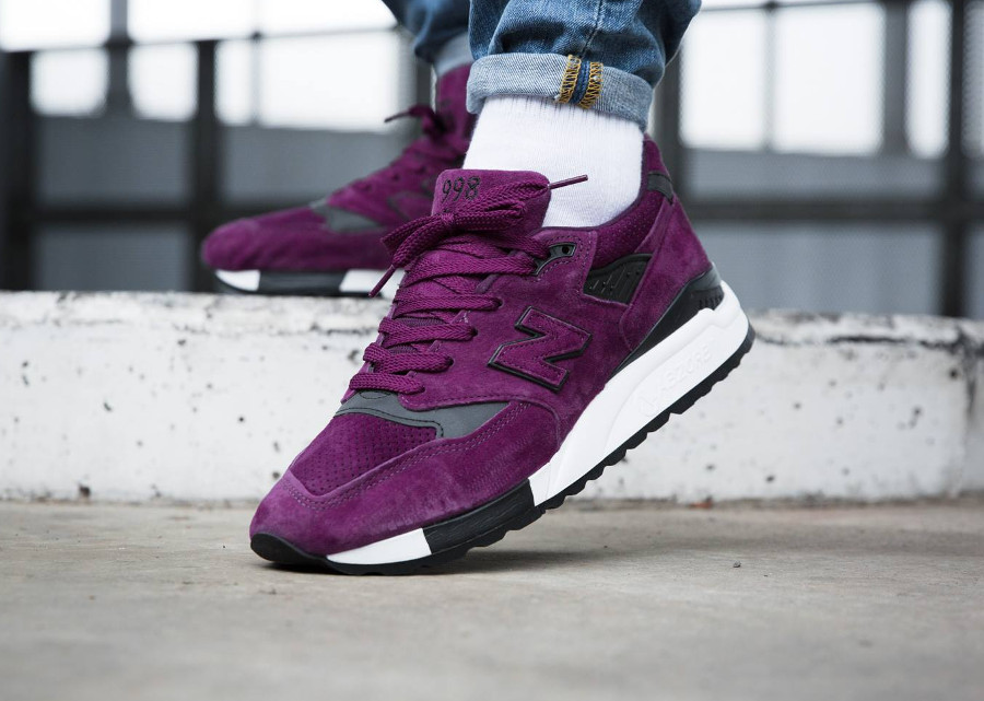 New Balance M998CM Color Spectrum Purple Suede - chaussure en suede violet pour homme
