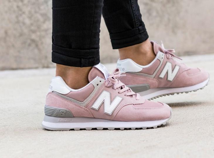 a289d79bf769 New Balance WL574ESP Pastel Faded Rose - chaussure rétro pour femme