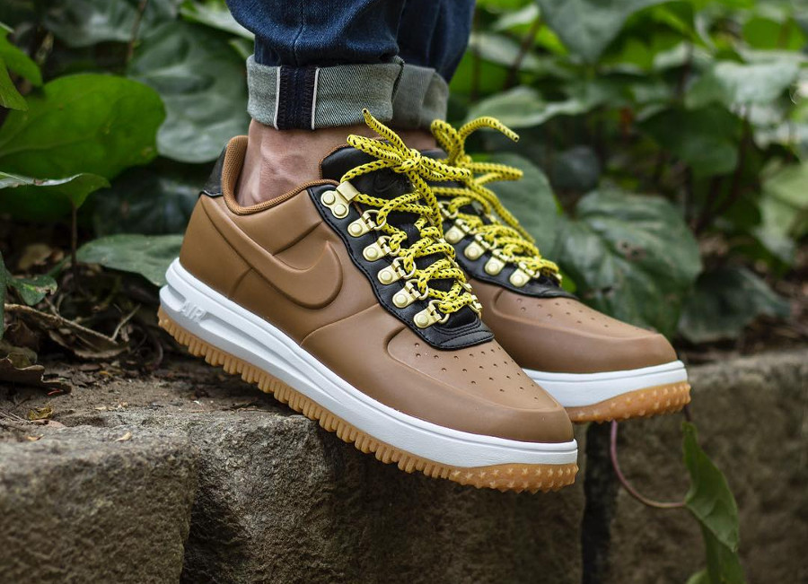 Nike Air Force 1 Duckboot Low Marron Ale Brown - chaussure basse homme