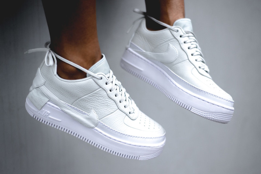 air force one blanche femme plateforme