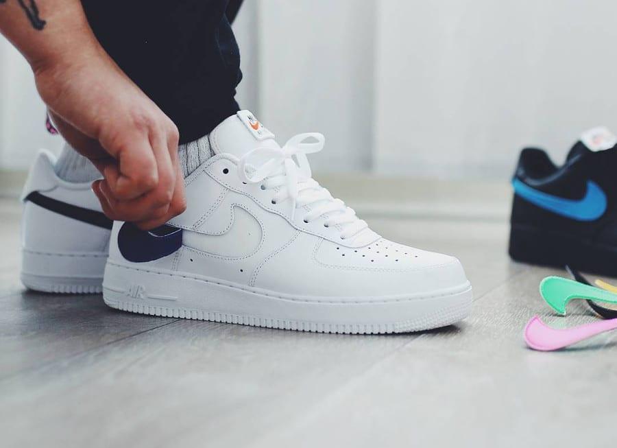 Nike Air Force 1 Triple White Velcro Swoosh (AH8462-102) (2)